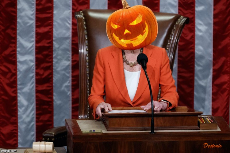 image tagged in pelosi,halloween,impeachment | made w/ Imgflip meme maker