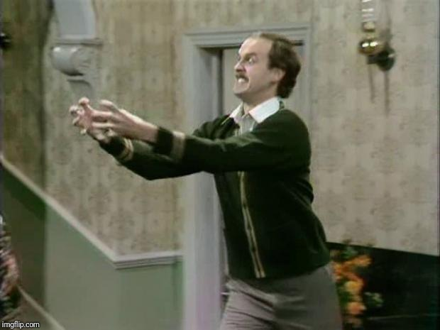 fawlty strangle | image tagged in fawlty strangle | made w/ Imgflip meme maker