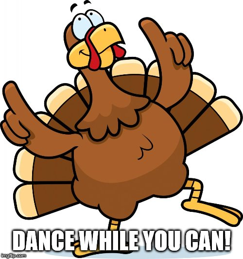 Turkey | DANCE WHILE YOU CAN! | image tagged in turkey | made w/ Imgflip meme maker