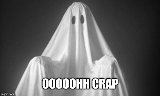 Ghost | OOOOOHH CRAP | image tagged in ghost | made w/ Imgflip meme maker