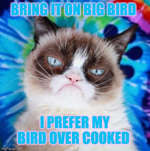 BRING IT ON BIG BIRD I PREFER MY BIRD OVER COOKED | made w/ Imgflip meme maker