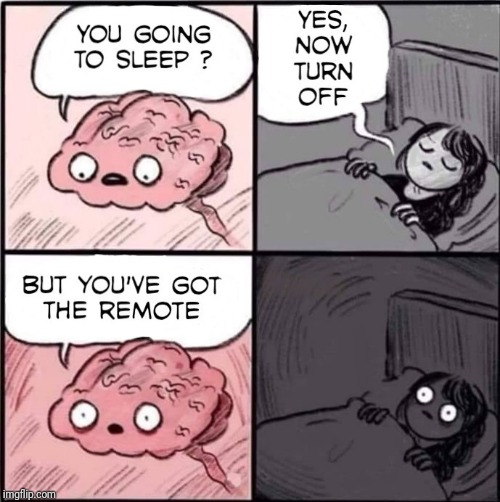 Insomnia Brain | image tagged in insomnia,meme,memes,brain | made w/ Imgflip meme maker