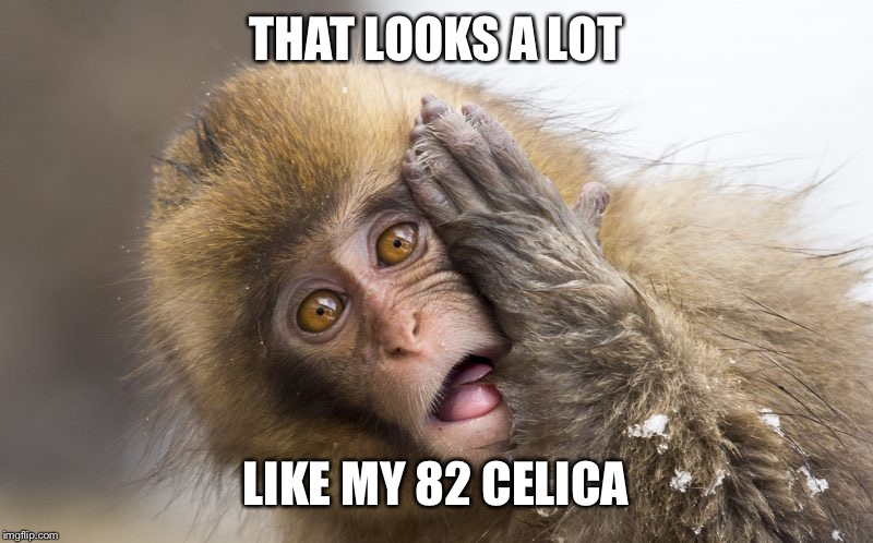 Huh? | THAT LOOKS A LOT LIKE MY 82 CELICA | image tagged in huh | made w/ Imgflip meme maker