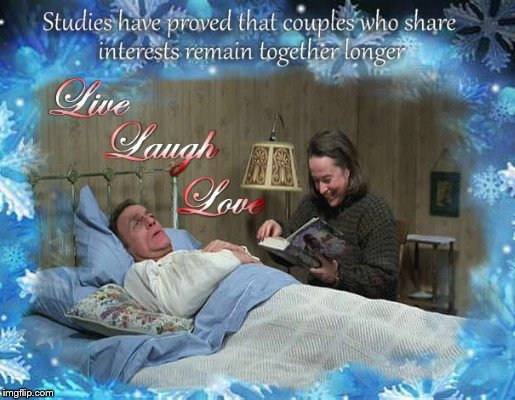 Live, laugh, love | image tagged in live laugh love,togetherness,stephen king,misery,paul and annie,parody | made w/ Imgflip meme maker