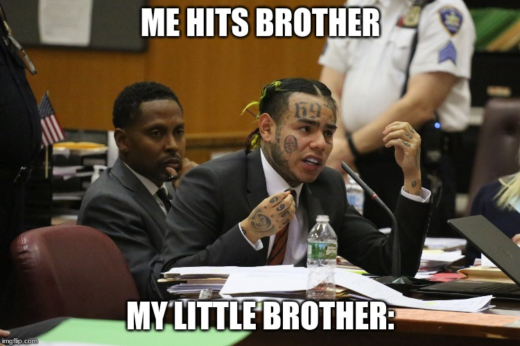 69 MEME | ME HITS BROTHER MY LITTLE BROTHER: | image tagged in 69 meme | made w/ Imgflip meme maker