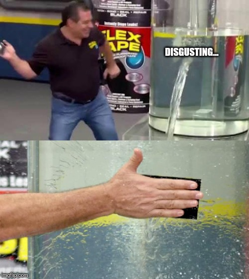Flex Tape | DISGUSTING... | image tagged in flex tape | made w/ Imgflip meme maker