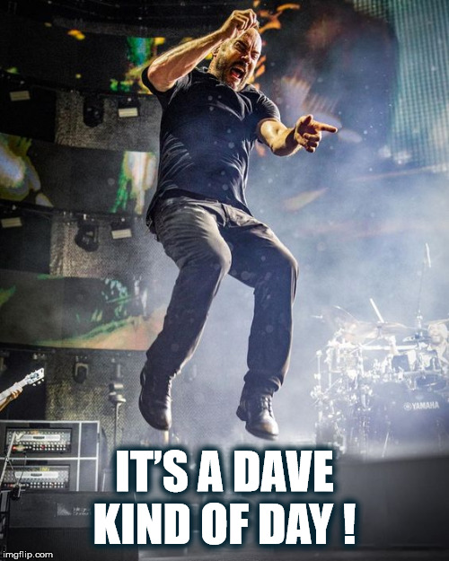IT'S A DAVE KIND OF DAY! |  IT'S A DAVE KIND OF DAY ! | image tagged in dave,dave matthews,dave matthews band,dmb,jump,its a dave kind of day | made w/ Imgflip meme maker
