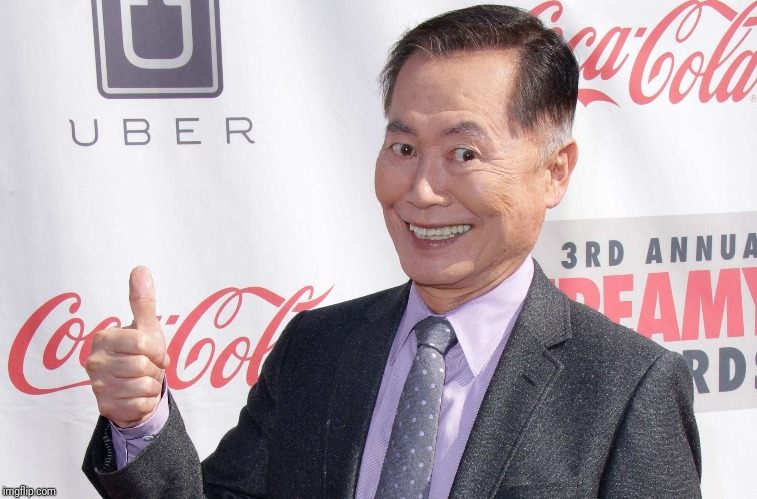George Takei thumbs up | image tagged in george takei thumbs up | made w/ Imgflip meme maker