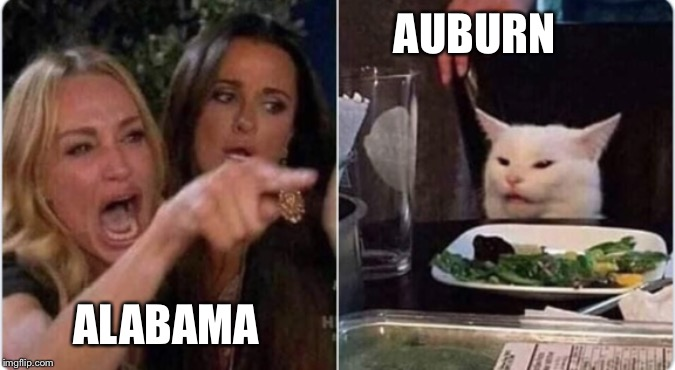 AUBURN; ALABAMA | image tagged in auburn,bama,football | made w/ Imgflip meme maker