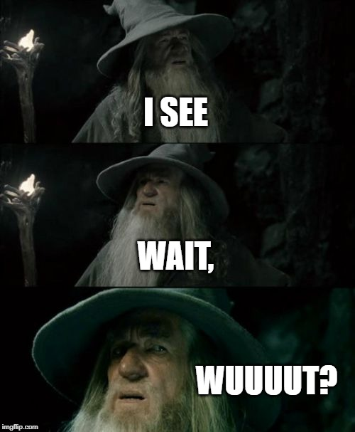 Confused Gandalf Meme | I SEE WAIT, WUUUUT? | image tagged in memes,confused gandalf | made w/ Imgflip meme maker