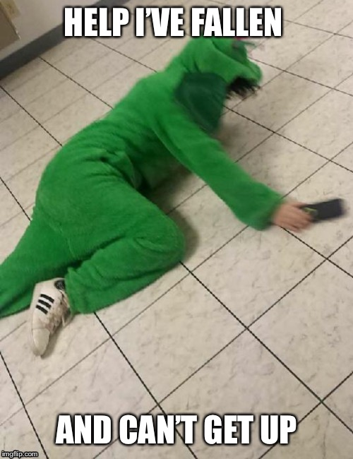 Dragon falling | HELP I'VE FALLEN AND CAN'T GET UP | image tagged in dragon,falling,funny,meme,fallingdragon,green | made w/ Imgflip meme maker