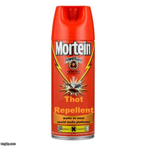 just spray it on any comment section and it's guaranteed to deter 99.99% of them. | image tagged in memes,begone thot,comment section,social media | made w/ Imgflip meme maker