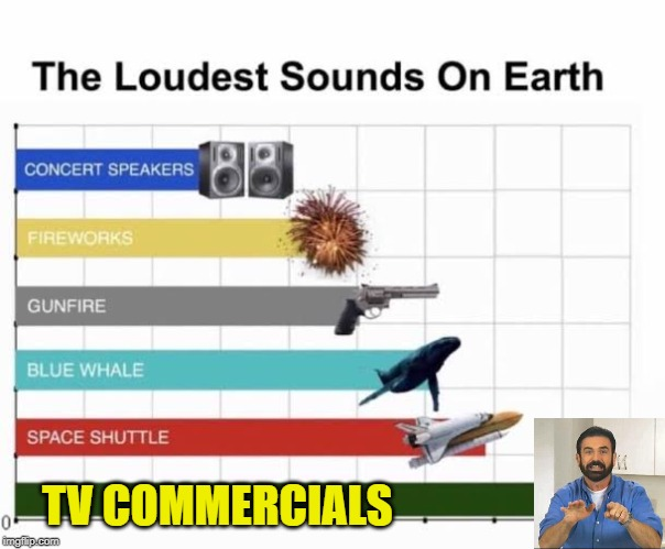 BUT WAIT, THERE'S MORE! *jamming volume down button* | TV COMMERCIALS | image tagged in the loudest sounds on earth,memes,funny,tv commercials,volume down then up | made w/ Imgflip meme maker