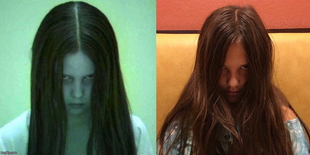 Creepy pre-teen | image tagged in the ring,creepy,girl,teen | made w/ Imgflip meme maker