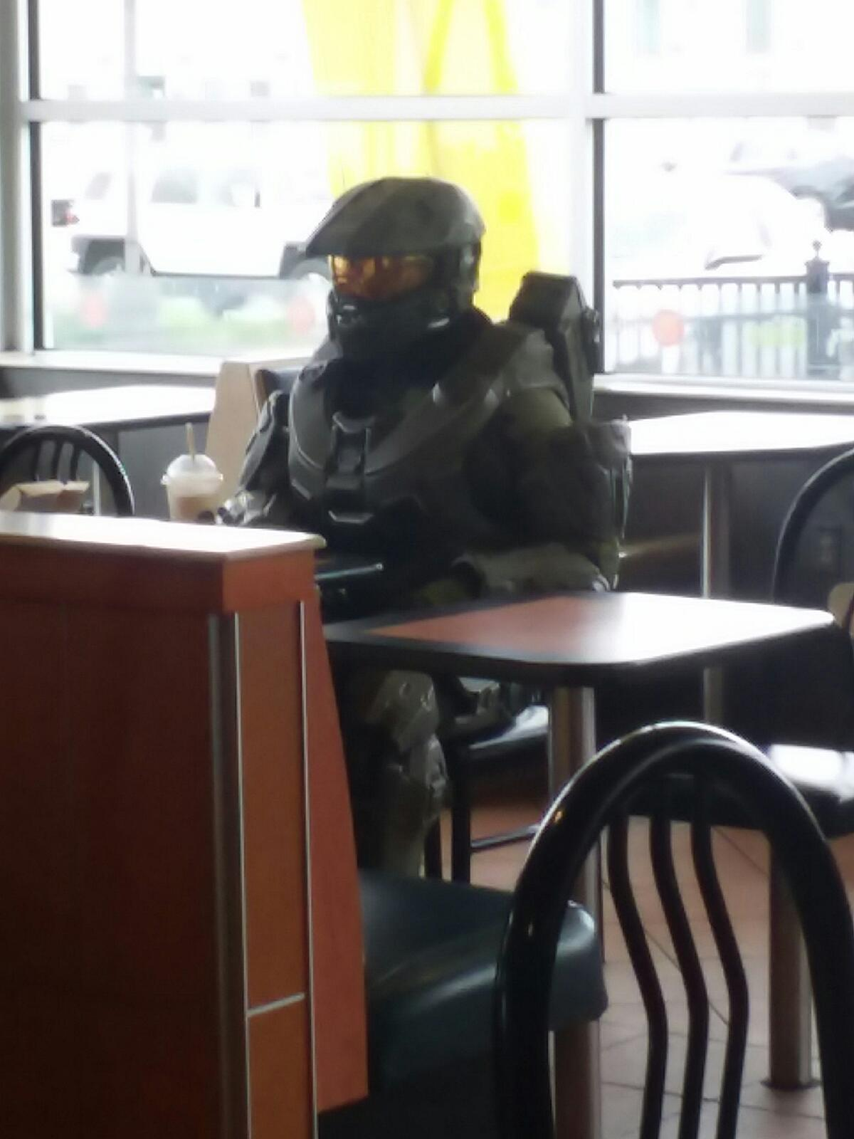 Master Chief In Mcdonalds Blank Template Imgflip