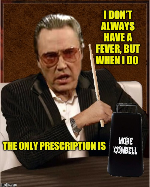 I DON'T ALWAYS HAVE A FEVER, BUT WHEN I DO THE ONLY PRESCRIPTION IS | made w/ Imgflip meme maker