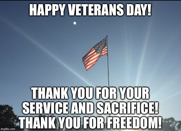 Veterans Day |  HAPPY VETERANS DAY! THANK YOU FOR YOUR SERVICE AND SACRIFICE! THANK YOU FOR FREEDOM! | image tagged in memes,veterans day,veterans,freedom | made w/ Imgflip meme maker