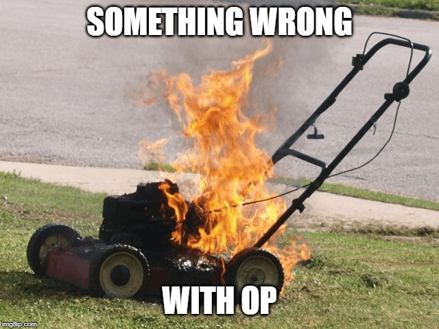 There's something wrong with it | SOMETHING WRONG WITH OP | image tagged in there's something wrong with it | made w/ Imgflip meme maker