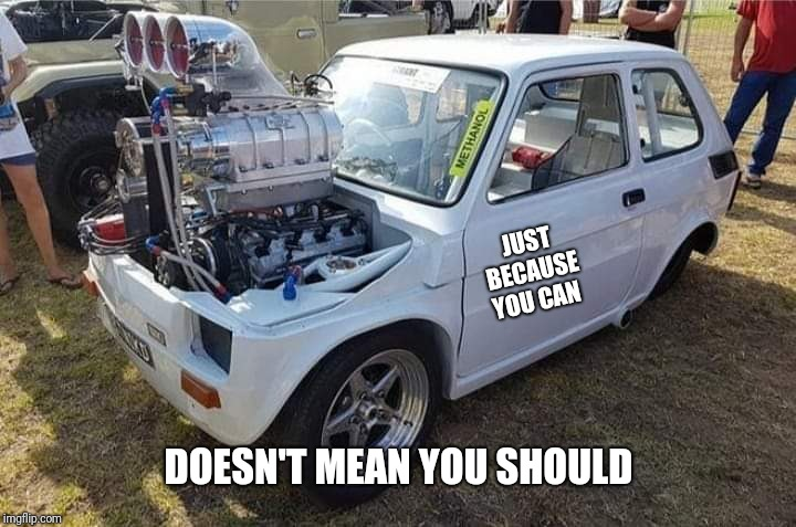 "When she says "" size doesn't matter"". 