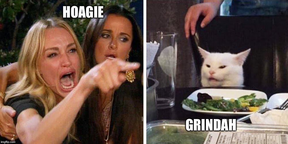 Smudge the cat | HOAGIE GRINDAH | image tagged in smudge the cat | made w/ Imgflip meme maker
