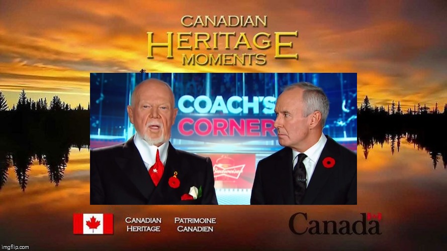 Canadian Heritage Moments: Don Cherry Episode | image tagged in don cherry,canadian hockey,poppy,rememberance day,canadian heritage moments,hockey night in canada | made w/ Imgflip meme maker