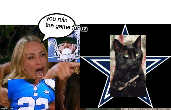you ruin the game for us | image tagged in cats,dallas cowboys | made w/ Imgflip meme maker