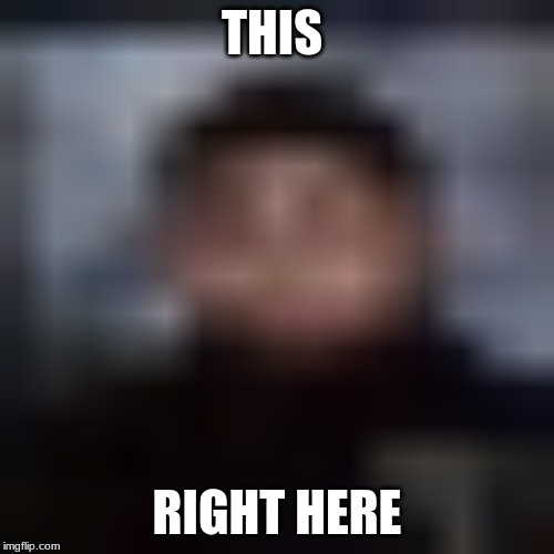 this is |  THIS; RIGHT HERE | image tagged in maurice,ironic | made w/ Imgflip meme maker