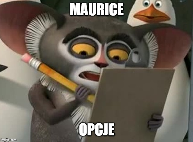 MAURICE; OPCJE | made w/ Imgflip meme maker