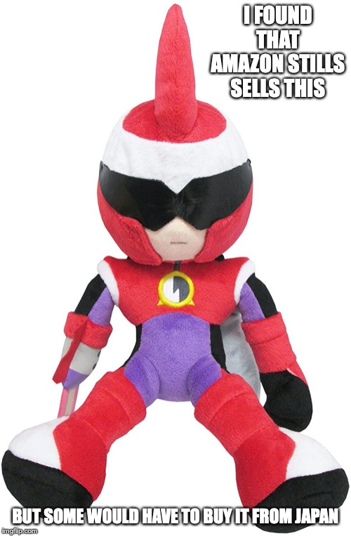 Protoman EXE Plush | I FOUND THAT AMAZON STILLS SELLS THIS BUT SOME WOULD HAVE TO BUY IT FROM JAPAN | image tagged in protoman,megaman,megaman nt warrior,plush,memes | made w/ Imgflip meme maker