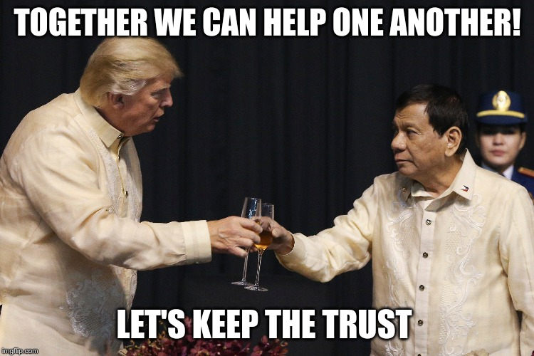 TOGETHER WE CAN HELP ONE ANOTHER! LET'S KEEP THE TRUST | image tagged in economy | made w/ Imgflip meme maker