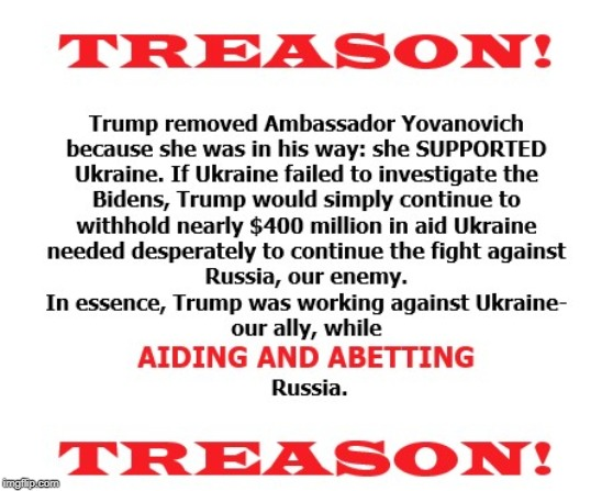 TREASON! | image tagged in treason,impeach trump | made w/ Imgflip meme maker