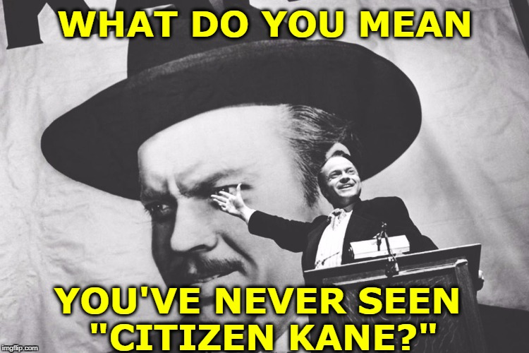 "Perhaps the Greatest American Movie. |  WHAT DO YOU MEAN; YOU'VE NEVER SEEN  ""CITIZEN KANE?"" 