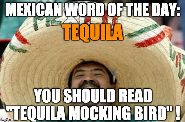 "mexican word of the day | MEXICAN WORD OF THE DAY: YOU SHOULD READ ""TEQUILA MOCKING BIRD"" ! TEQUILA 