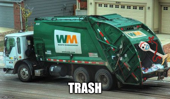 Garbage truck  | TRASH | image tagged in garbage truck | made w/ Imgflip meme maker