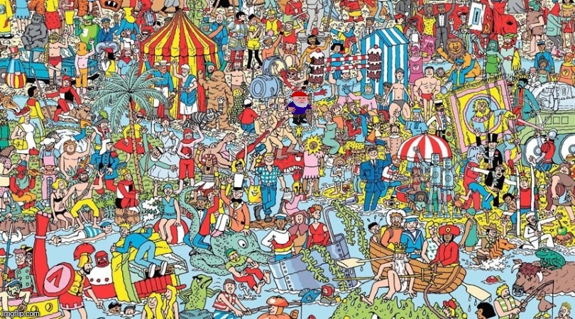 HOO | image tagged in where's waldo,gnome | made w/ Imgflip meme maker