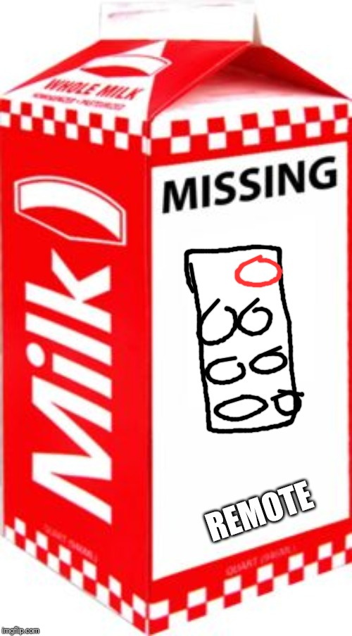 Missing | REMOTE | image tagged in missing | made w/ Imgflip meme maker