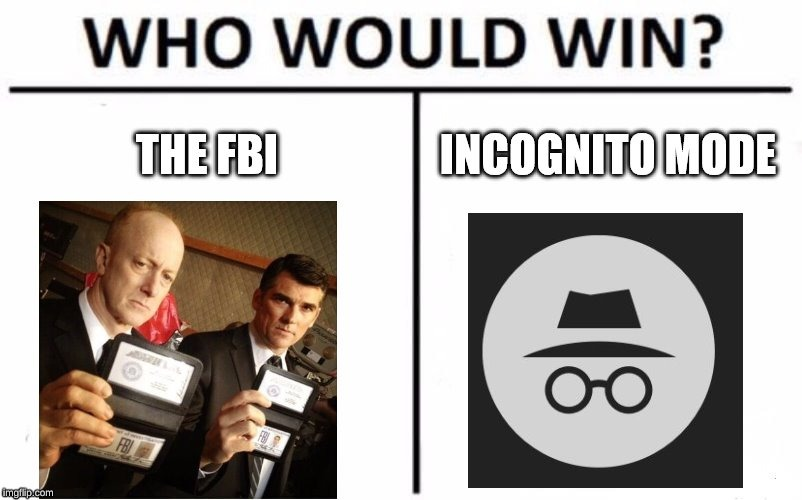 image tagged in fbi,incognito,memes | made w/ Imgflip meme maker