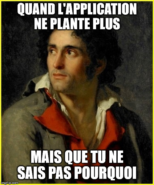 QUAND L'APPLICATION NE PLANTE PLUS MAIS QUE TU NE SAIS PAS POURQUOI | QUAND L'APPLICATION NE PLANTE PLUS MAIS QUE TU NE SAIS PAS POURQUOI | image tagged in classic | made w/ Imgflip meme maker