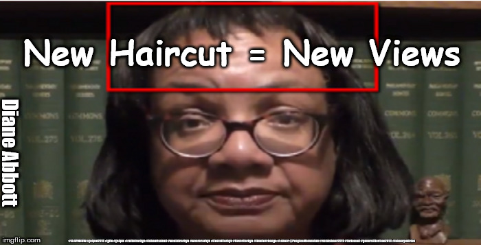 Abbott - new haircut=new views |  New Haircut = New Views; Diane Abbott; #JC4PMNOW #jc4pm2019 #gtto #jc4pm #cultofcorbyn #labourisdead #weaintcorbyn #wearecorbyn #CostofCorbyn #NeverCorbyn #timeforchange #Labour @PeoplesMomentum #votelabour2019 #toriesout #generalElection2019 #labourpolicies | image tagged in brexit election 2019,brexit boris corbyn farage swinson trump,jc4pmnow gtto jc4pm2019,cultofcorbyn,labourisdead,diane abbott | made w/ Imgflip meme maker