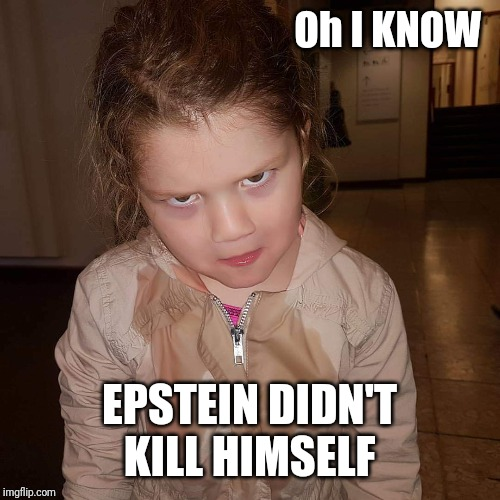 What do you mean | Oh I KNOW EPSTEIN DIDN'T KILL HIMSELF | image tagged in what do you mean | made w/ Imgflip meme maker