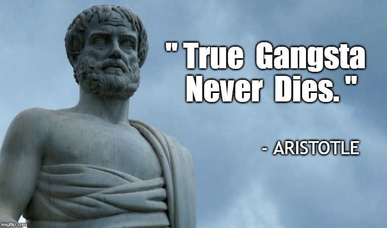 Aristotle Modern-Day Quotes | =MINECRAFT² E=MC² | image tagged in aristotl,gangsta,life,death,democrats suck it,a bullet for nancy pelosi | made w/ Imgflip meme maker