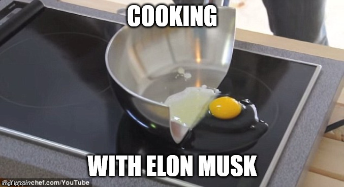 The Future Of Cooking | COOKING WITH ELON MUSK | image tagged in elon musk,elon musk smoking a joint | made w/ Imgflip meme maker