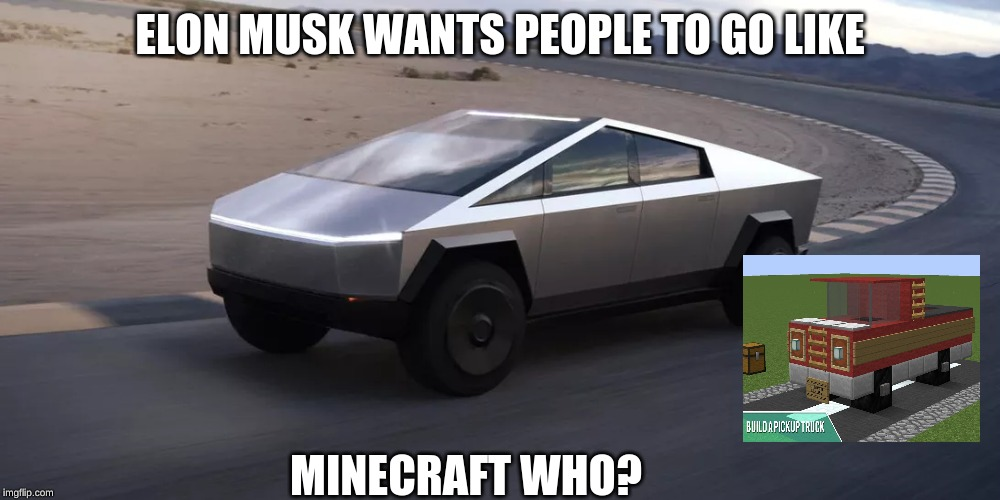 ELON MUSK WANTS PEOPLE TO GO LIKE MINECRAFT WHO? | image tagged in memes | made w/ Imgflip meme maker