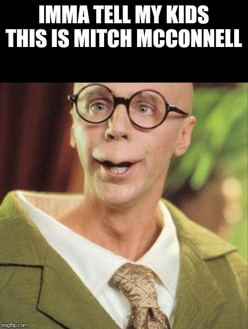 Mitch McConnell |  IMMA TELL MY KIDS THIS IS MITCH MCCONNELL | image tagged in mitch mcconnell,turtle,turtles | made w/ Imgflip meme maker