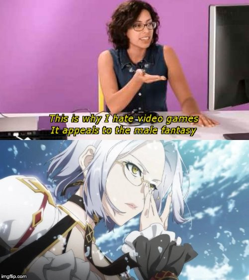 male fantasy anime | image tagged in why i hate video games | made w/ Imgflip meme maker