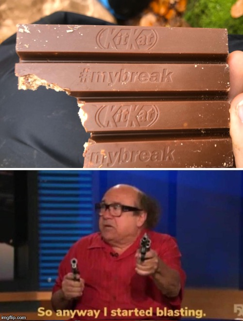 No description needed! | image tagged in so anyway i started blasting,kitkat,isaac_laugh,horror,shock,laugh | made w/ Imgflip meme maker