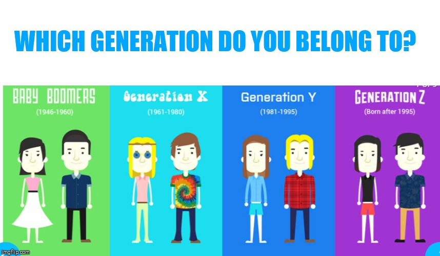 Image tagged in generations,millennials,baby boomers,gen z ...