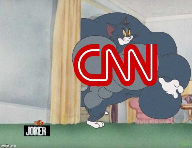 Joker in a nutshell | image tagged in joker,we live in a society,dc comics,cnn,batman,tom and jerry | made w/ Imgflip meme maker