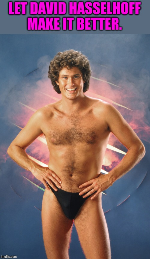 LET DAVID HASSELHOFF MAKE IT BETTER. | made w/ Imgflip meme maker