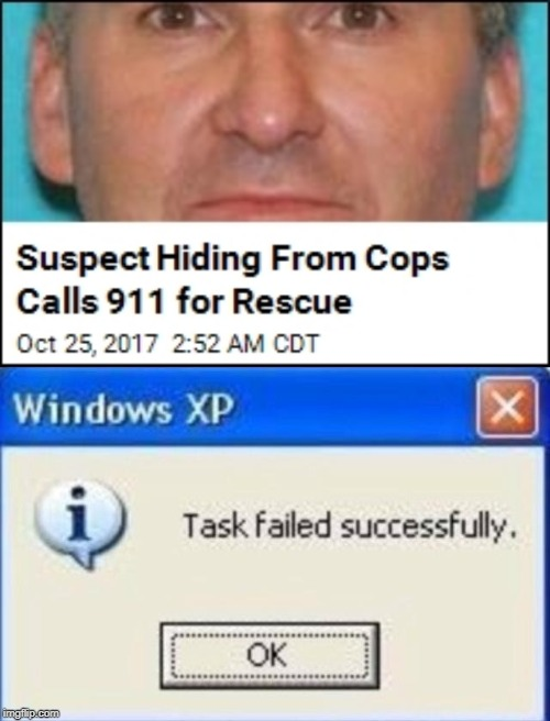 cops | image tagged in task failed successfully,funny,memes,911,rescue,cops | made w/ Imgflip meme maker